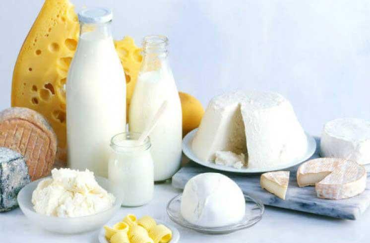 приема на млечни продукти