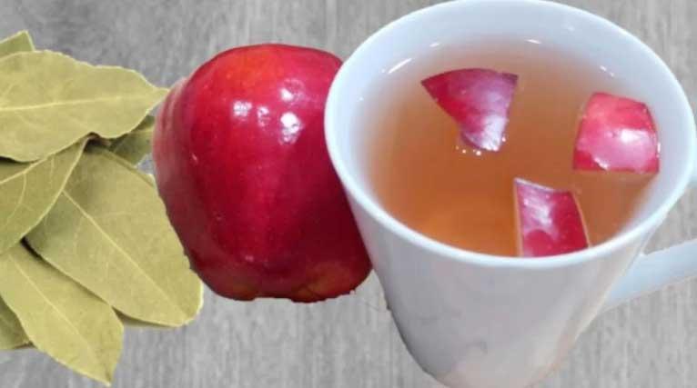 ябълка с дафинов лист